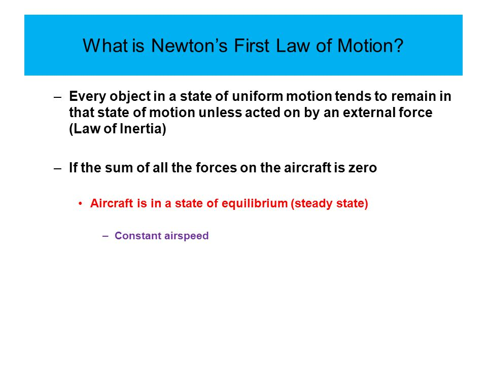 What is Newton's First Law of Motion