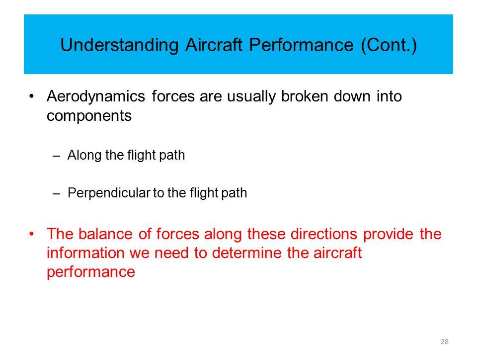 Understanding Aircraft Performance (Cont.)