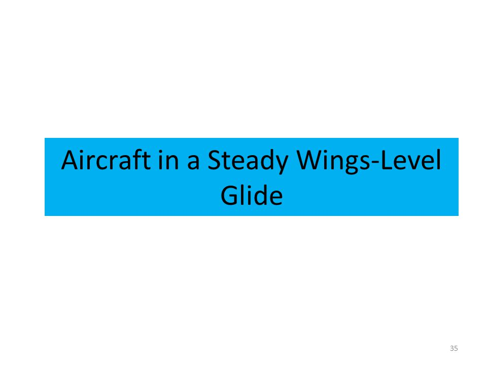 Aircraft in a Steady Wings-Level Glide