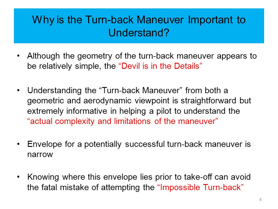 Why is the Turn-back Maneuver Important to Understand