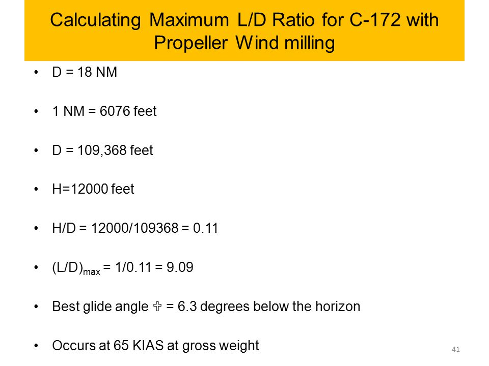 Calculating Maximum L/D Ratio for C-172 with Propeller Wind milling