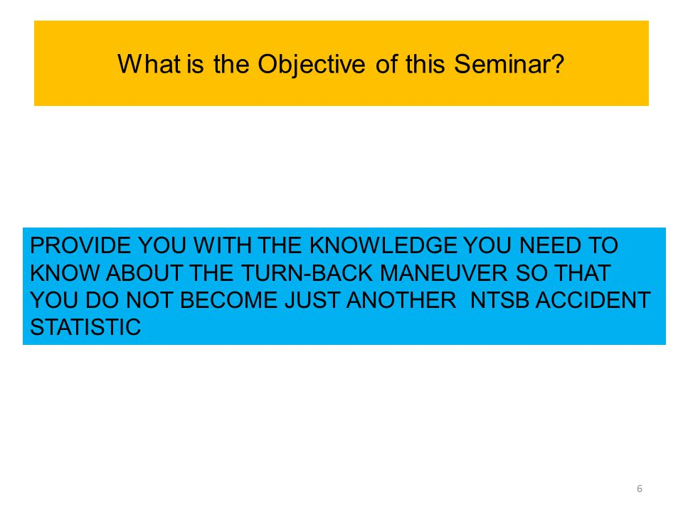 What is the Objective of this Seminar