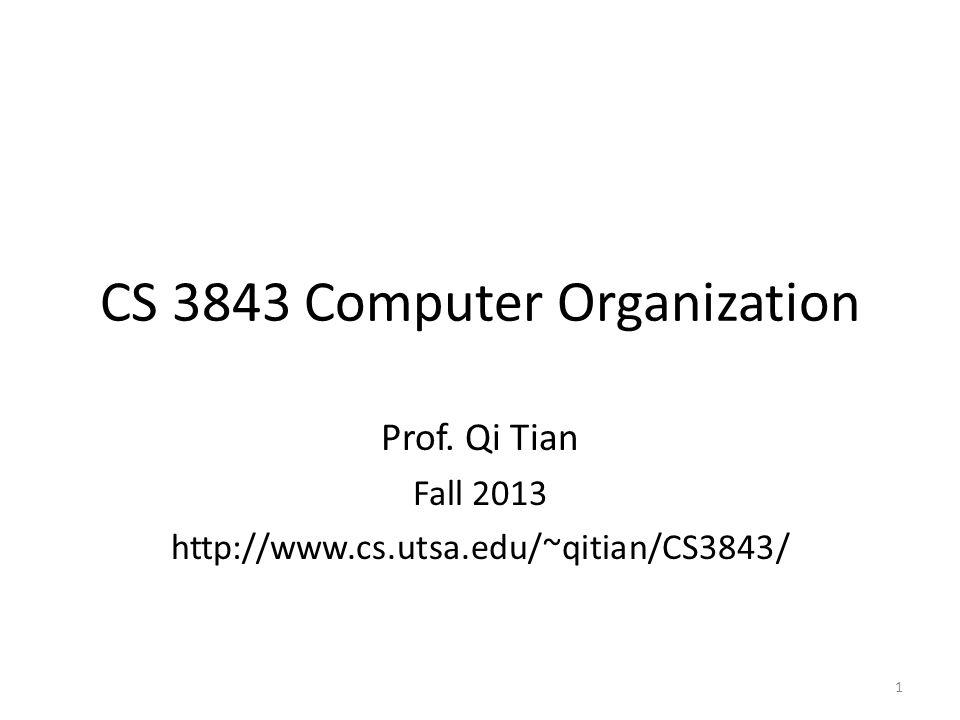 CS 3843 Computer Organization