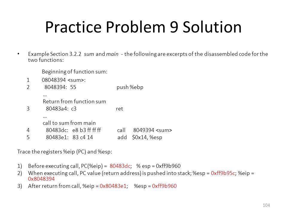 Practice Problem 9 Solution