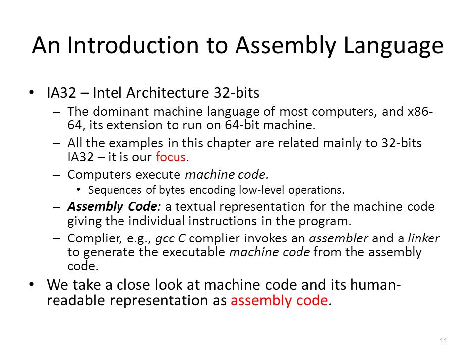 An Introduction to Assembly Language