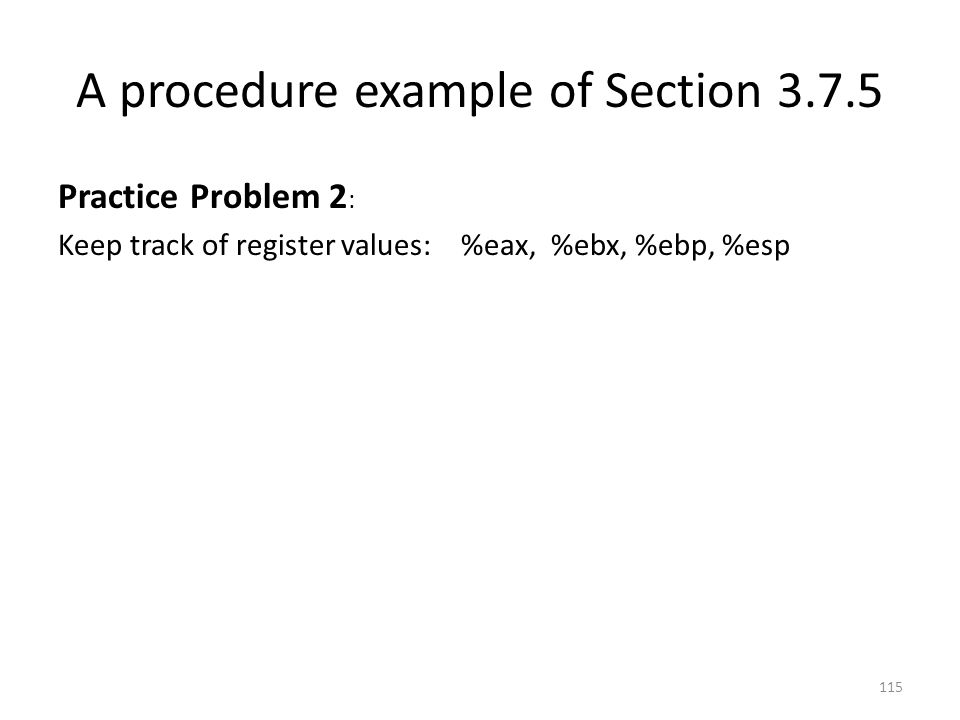 A procedure example of Section 3.7.5