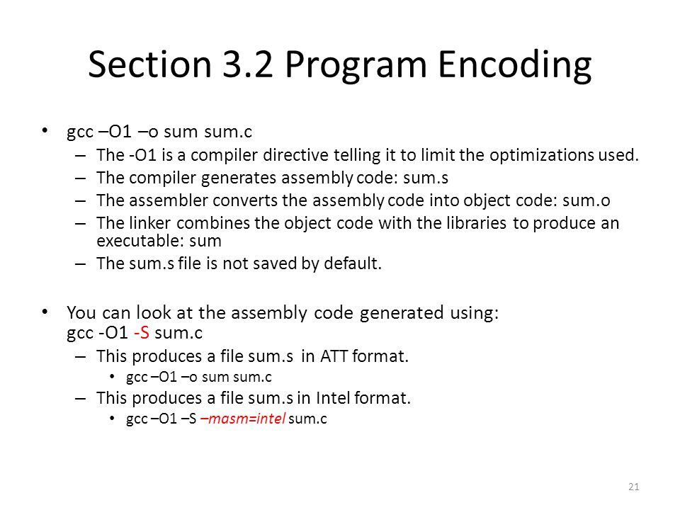 Section 3.2 Program Encoding