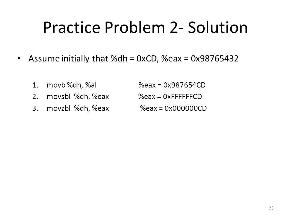 Practice Problem 2- Solution