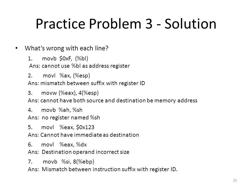 Practice Problem 3 - Solution