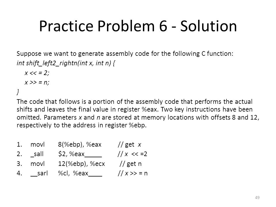 Practice Problem 6 - Solution