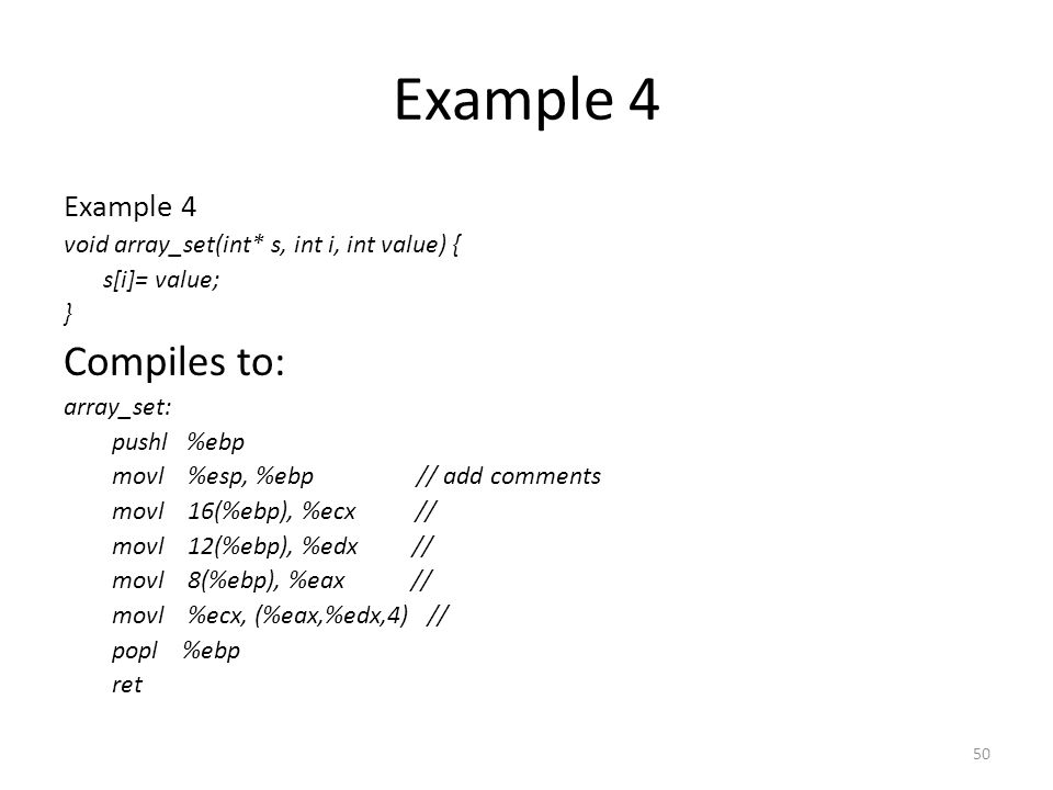 Example 4 Compiles to: Example 4