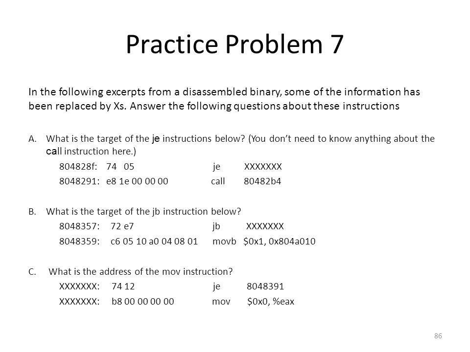 Practice Problem 7