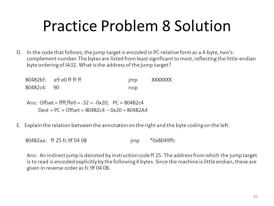 Practice Problem 8 Solution