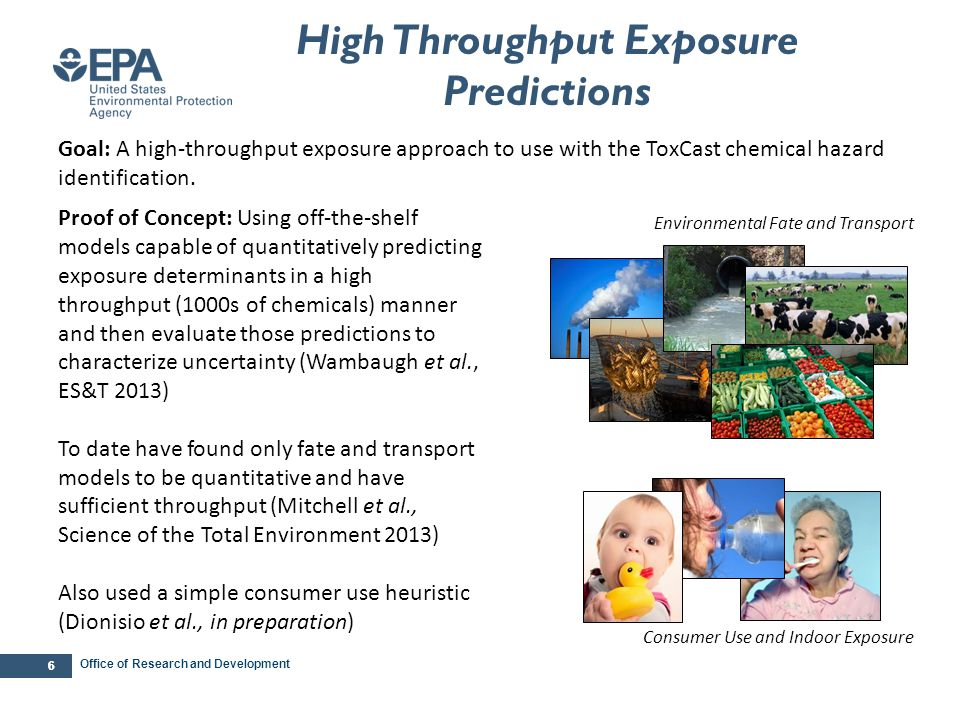 … … Framework for High Throughput Exposure Screening