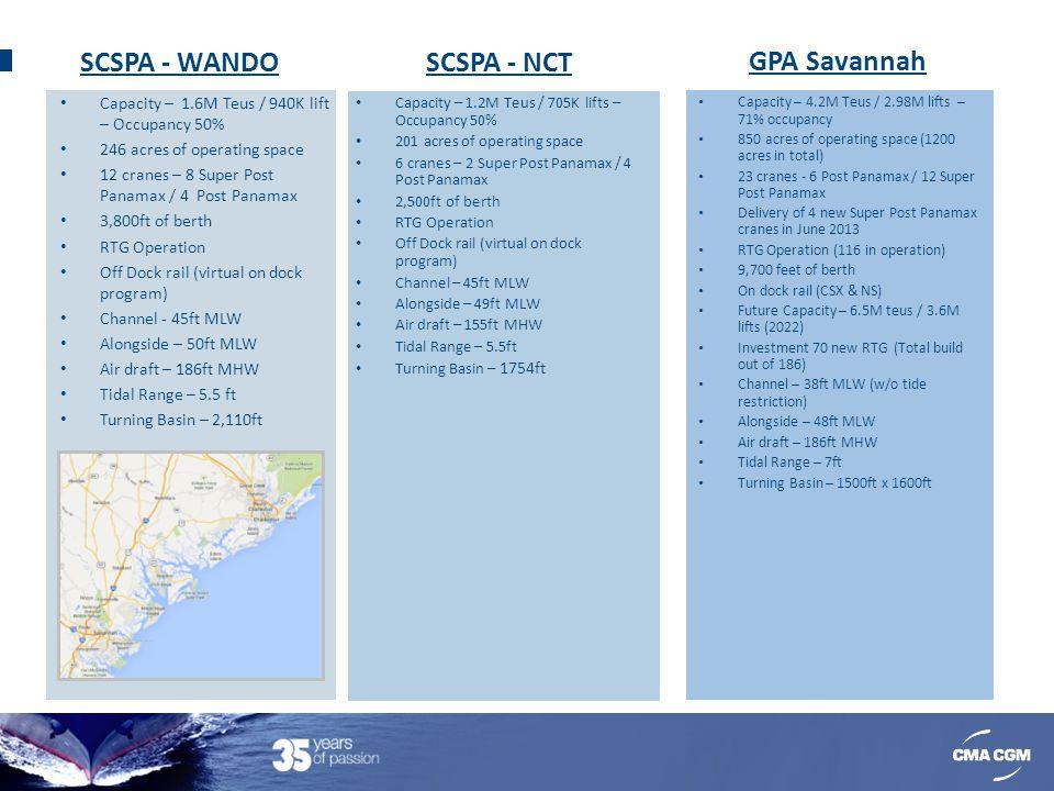 SCSPA - WANDO SCSPA - NCT GPA Savannah