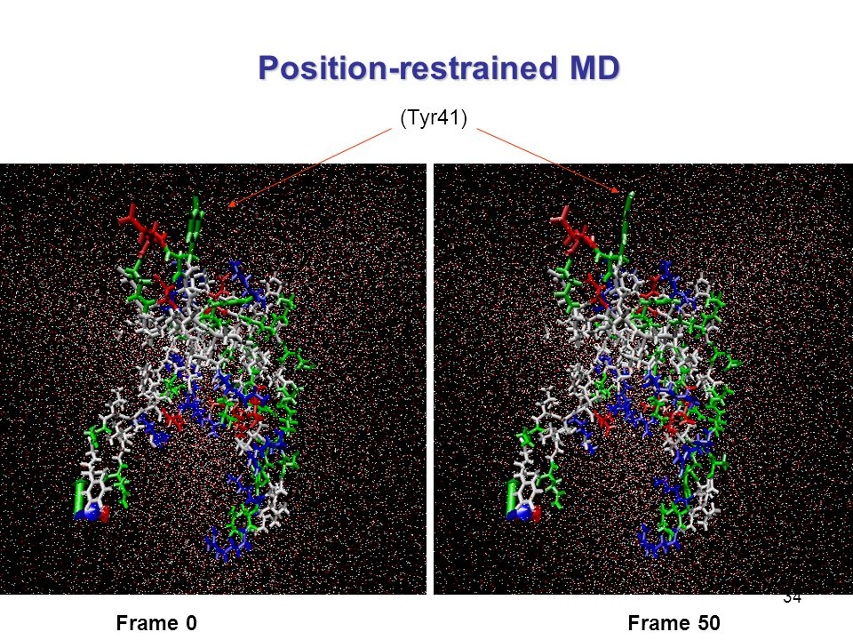 Position-restrained MD