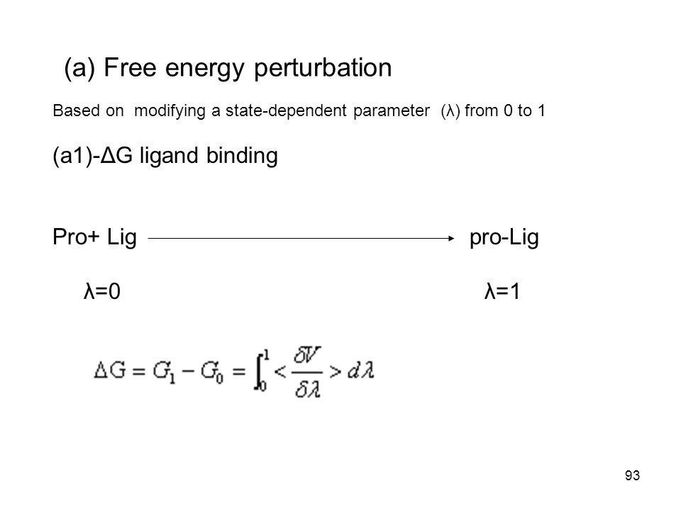 (a) Free energy perturbation