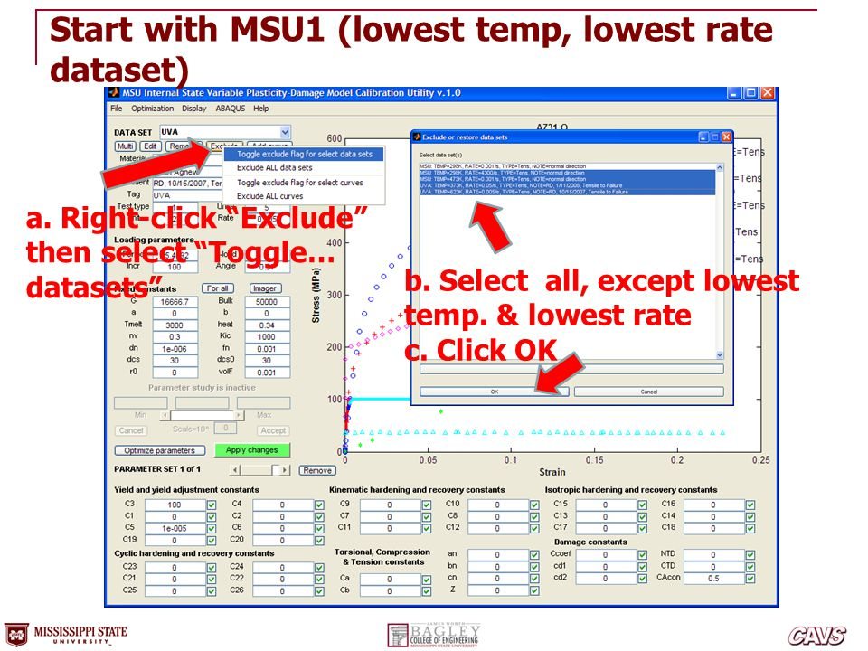 Start with MSU1 (lowest temp, lowest rate dataset)