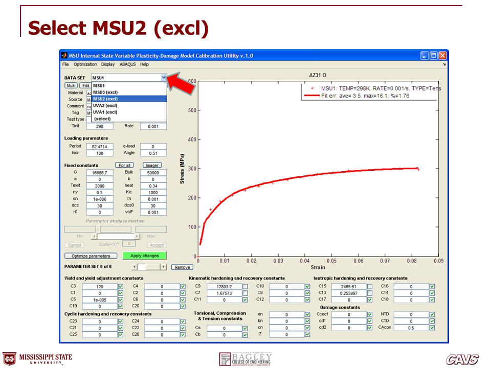 Select MSU2 (excl)