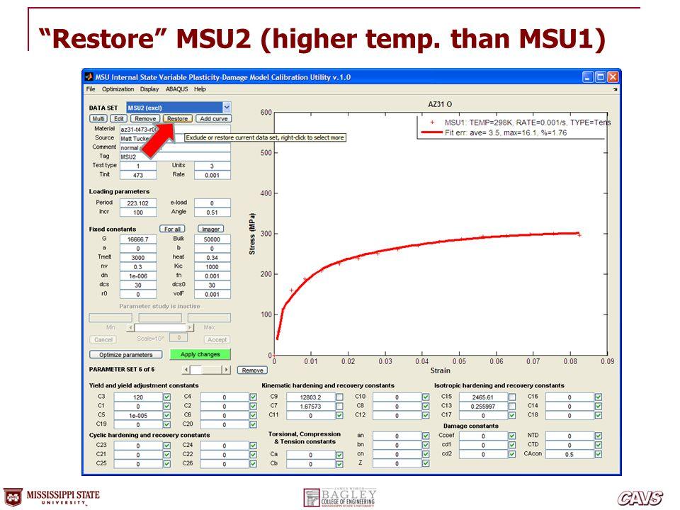 Restore MSU2 (higher temp. than MSU1)