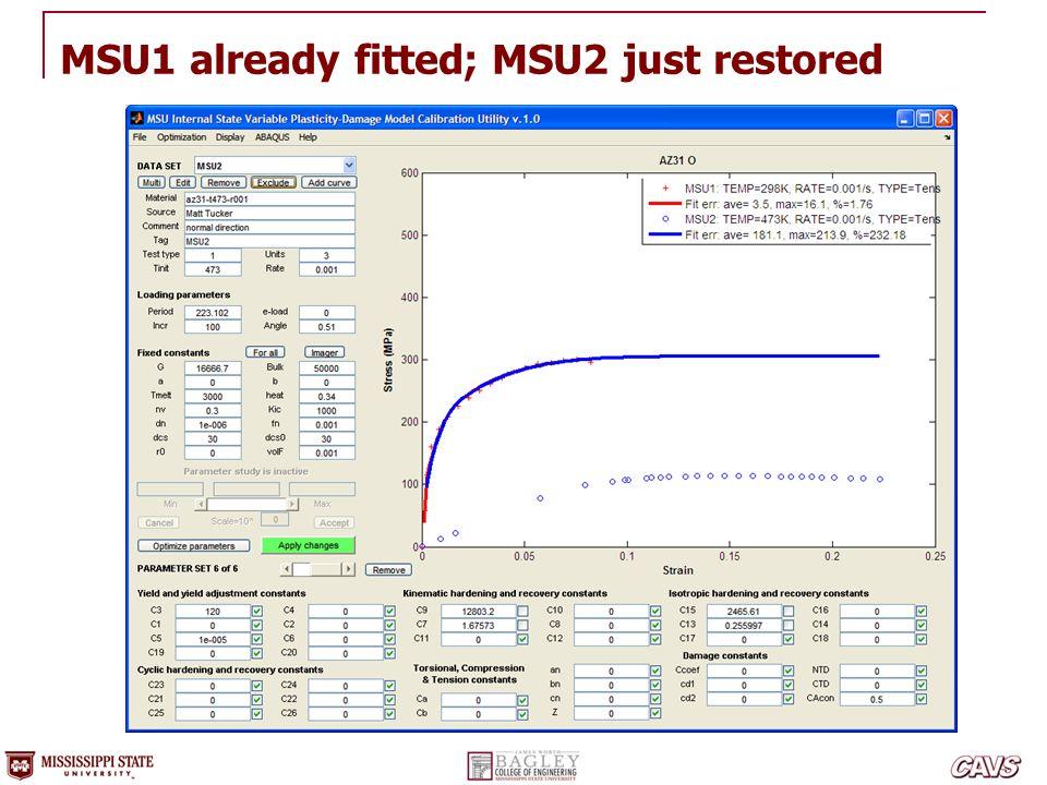 MSU1 already fitted; MSU2 just restored