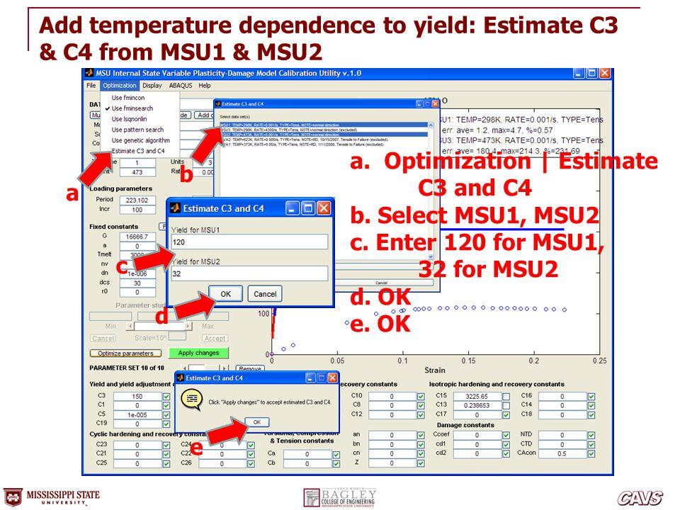 Add temperature dependence to yield: Estimate C3 & C4 from MSU1 & MSU2