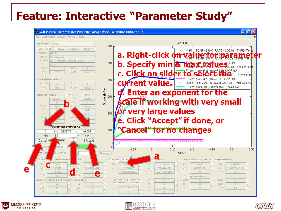 Feature: Interactive Parameter Study