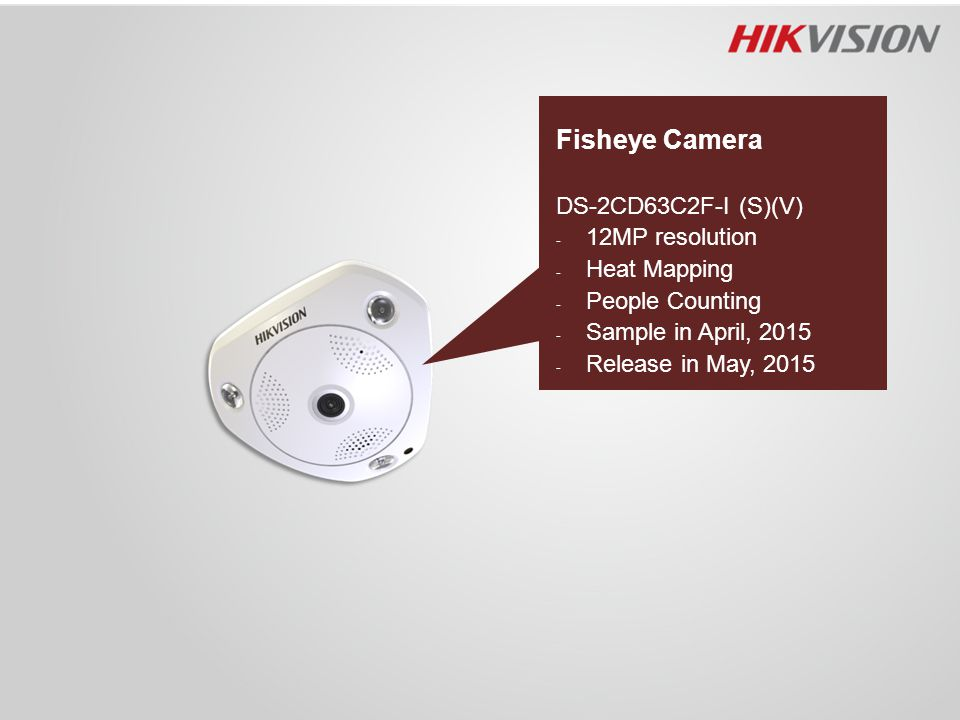 Fisheye Camera DS-2CD63C2F-I (S)(V) 12MP resolution Heat Mapping