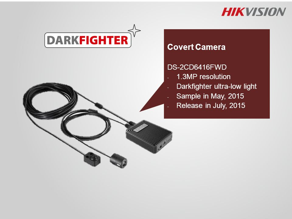 Covert Camera DS-2CD6416FWD 1.3MP resolution