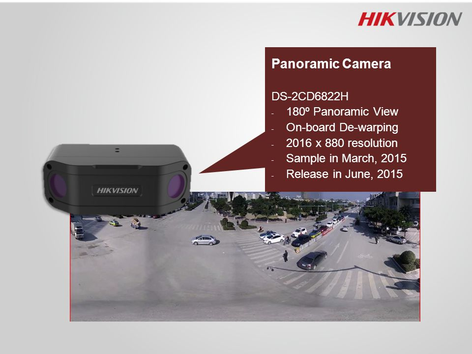 Panoramic Camera DS-2CD6822H 180º Panoramic View On-board De-warping