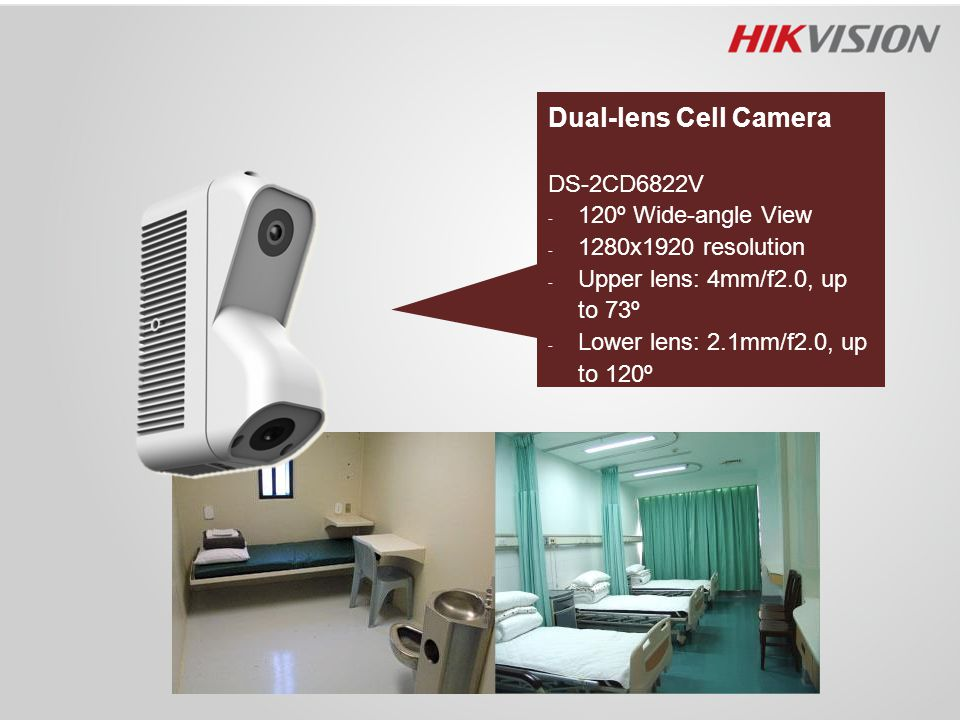 Dual-lens Cell Camera DS-2CD6822V 120º Wide-angle View