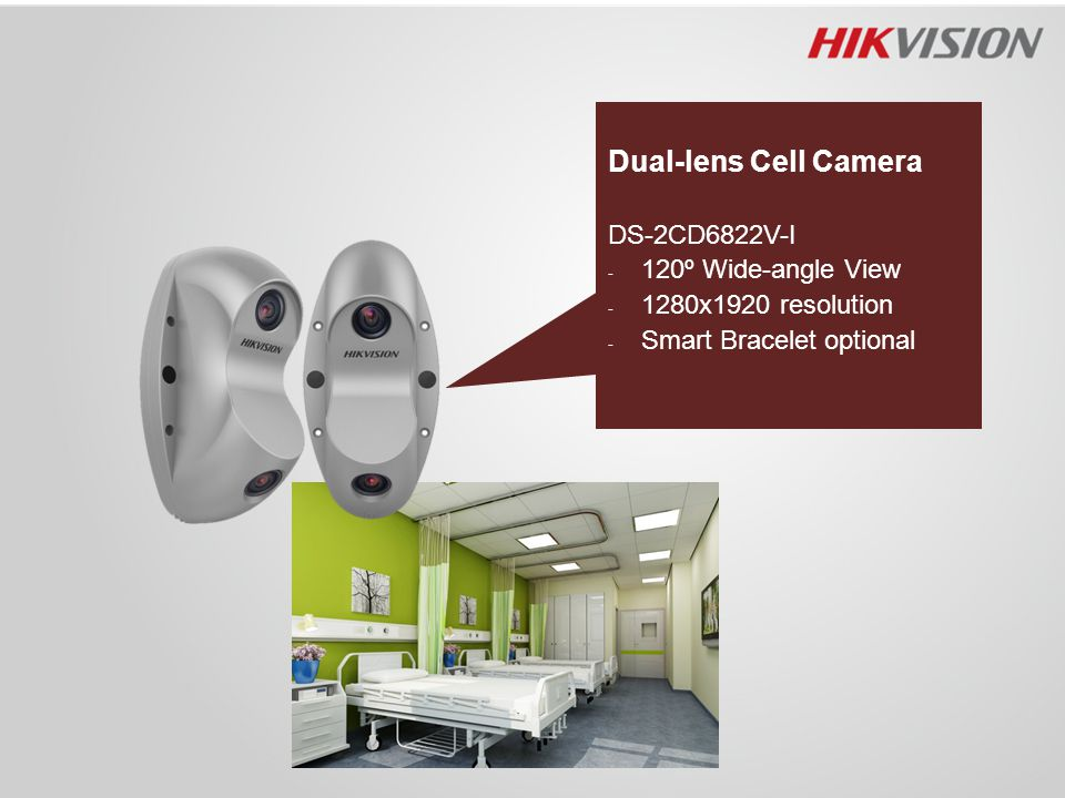 Dual-lens Cell Camera DS-2CD6822V-I 120º Wide-angle View