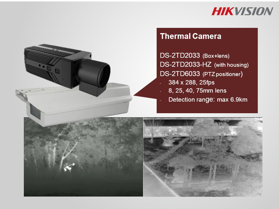 Thermal Camera DS-2TD2033 (Box+lens) DS-2TD2033-HZ (with housing)