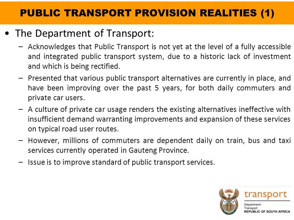 PUBLIC TRANSPORT PROVISION REALITIES (1)