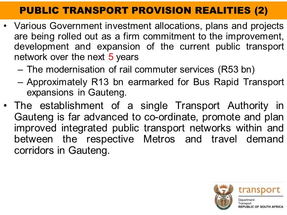PUBLIC TRANSPORT PROVISION REALITIES (2)