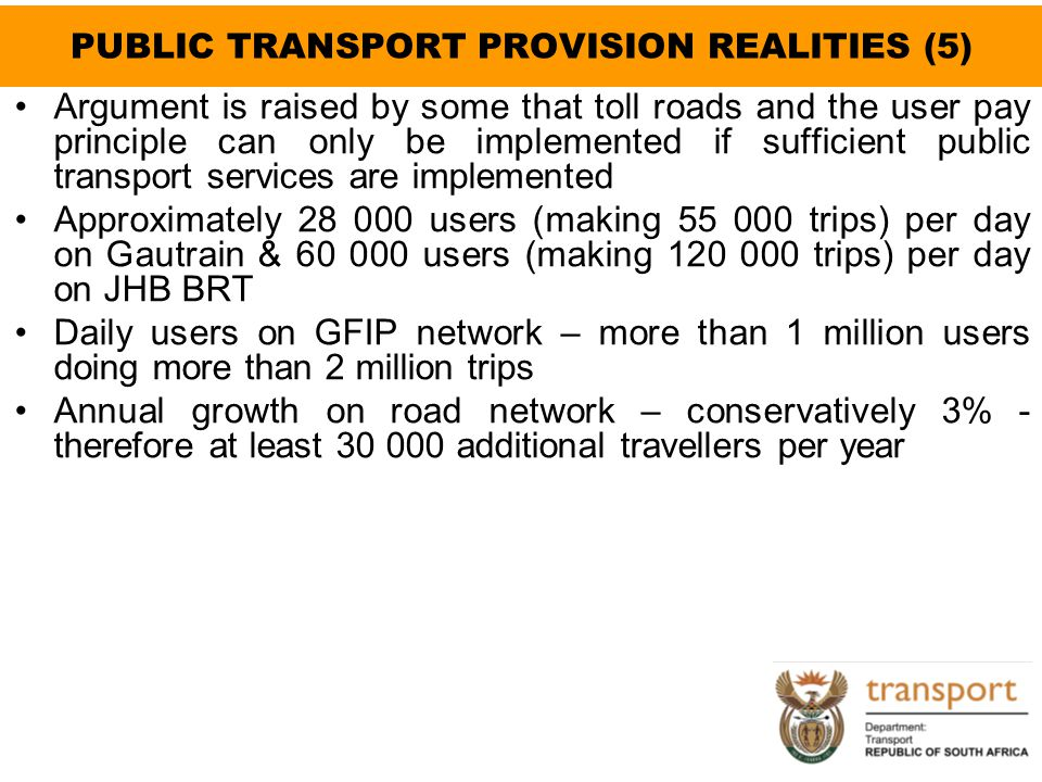 PUBLIC TRANSPORT PROVISION REALITIES (5)