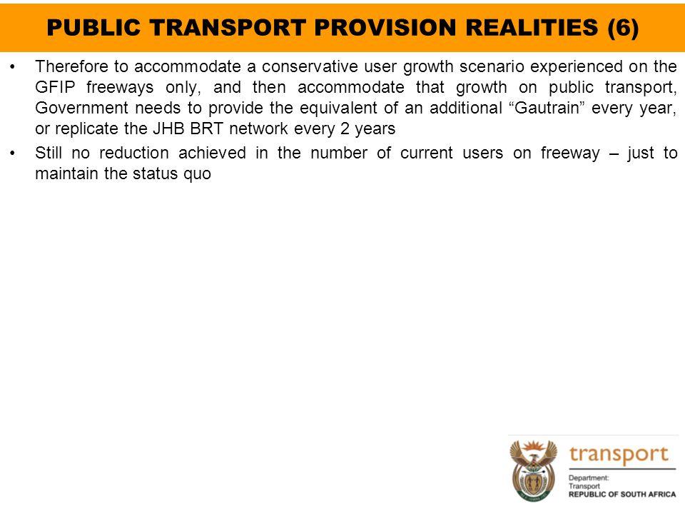 PUBLIC TRANSPORT PROVISION REALITIES (6)