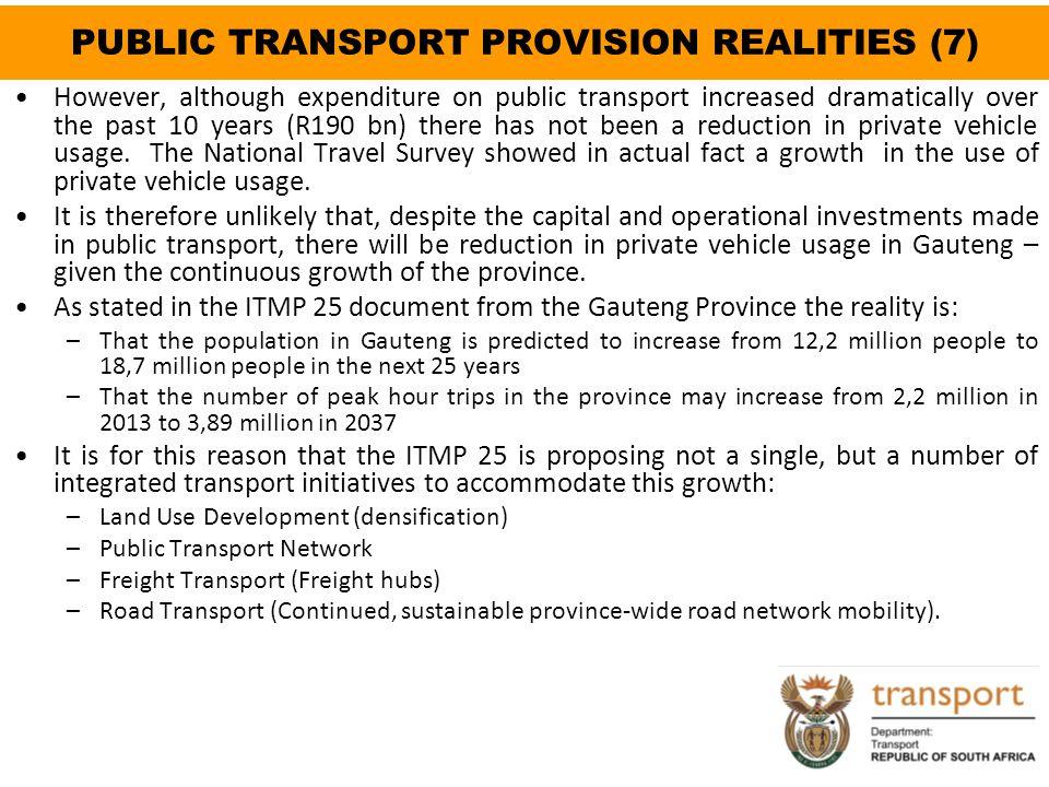 PUBLIC TRANSPORT PROVISION REALITIES (7)