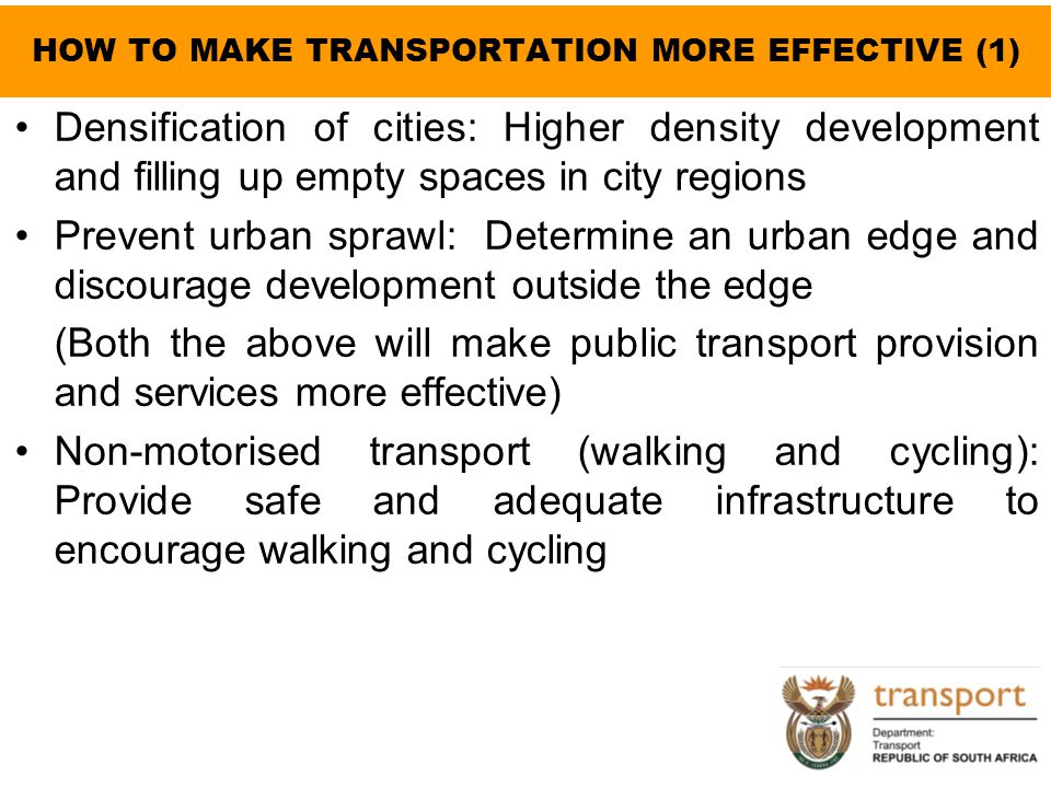 HOW TO MAKE TRANSPORTATION MORE EFFECTIVE (1)