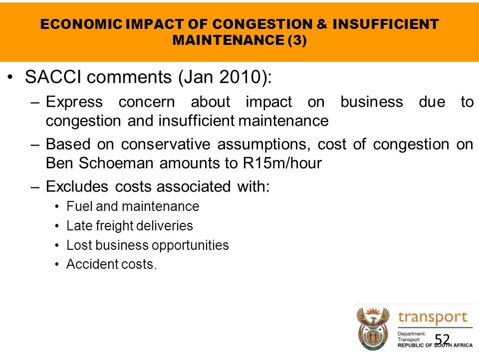 ECONOMIC IMPACT OF CONGESTION & INSUFFICIENT MAINTENANCE (3)