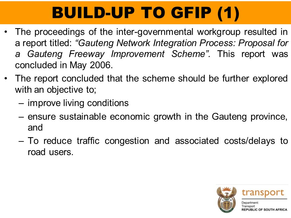 BUILD-UP TO GFIP (1)