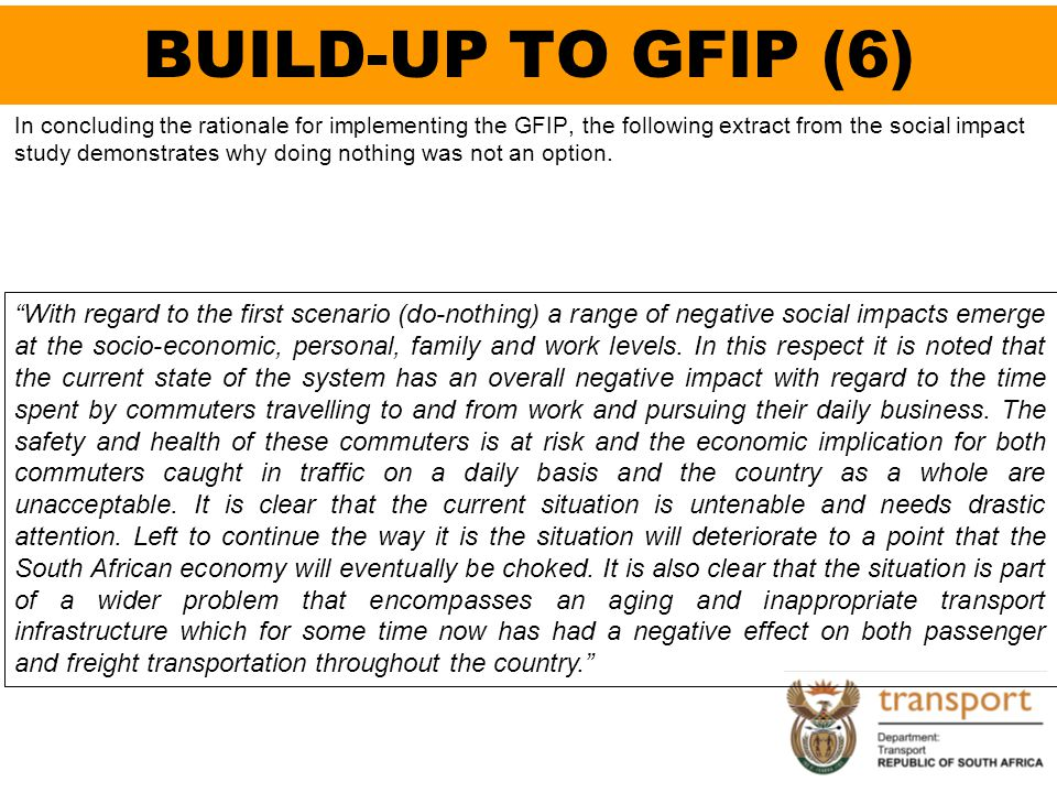 BUILD-UP TO GFIP (6)