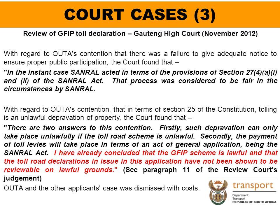 COURT CASES (3)