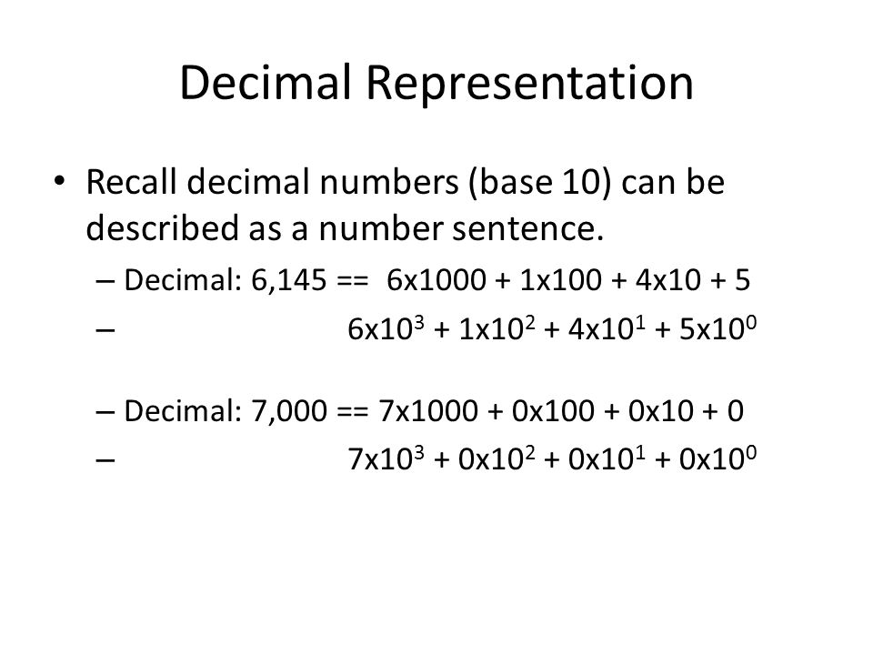 Decimal Representation
