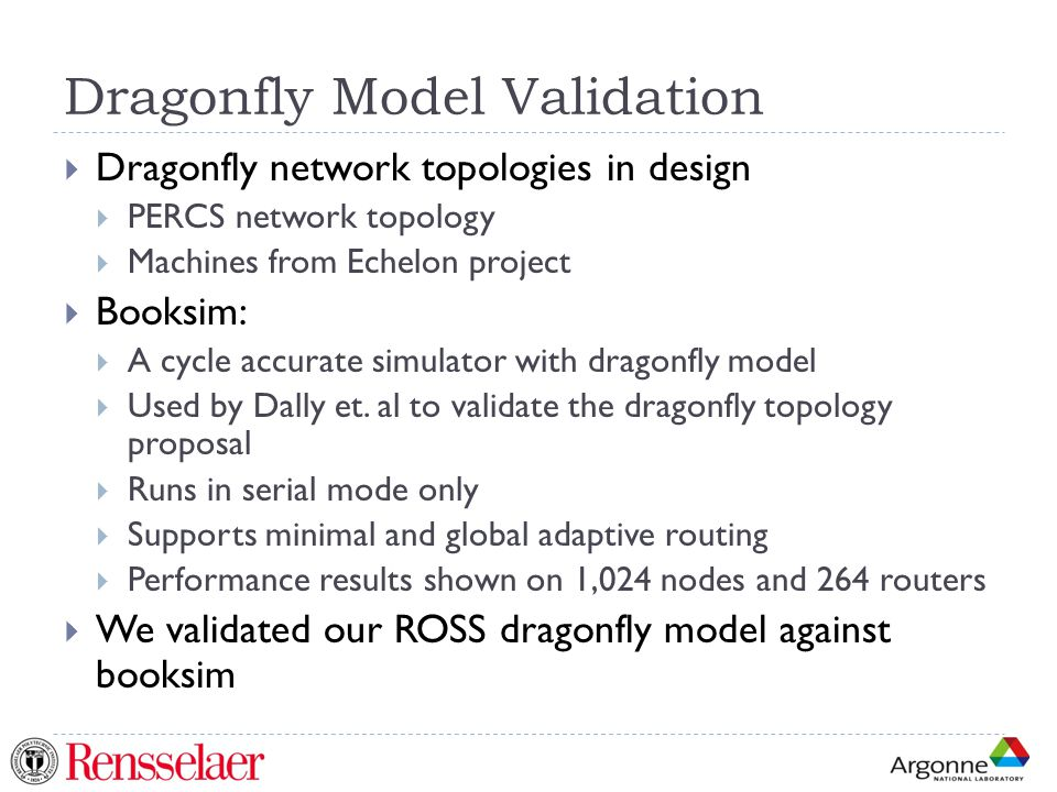 Dragonfly Model Validation