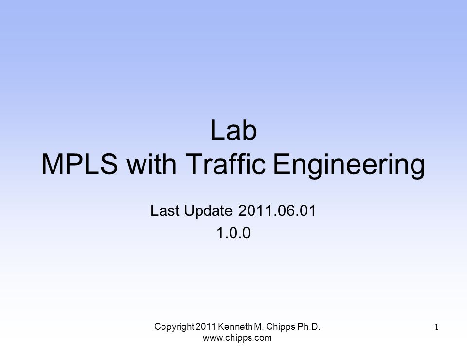 Lab MPLS with Traffic Engineering