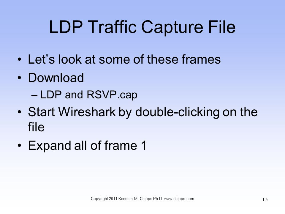 LDP Traffic Capture File