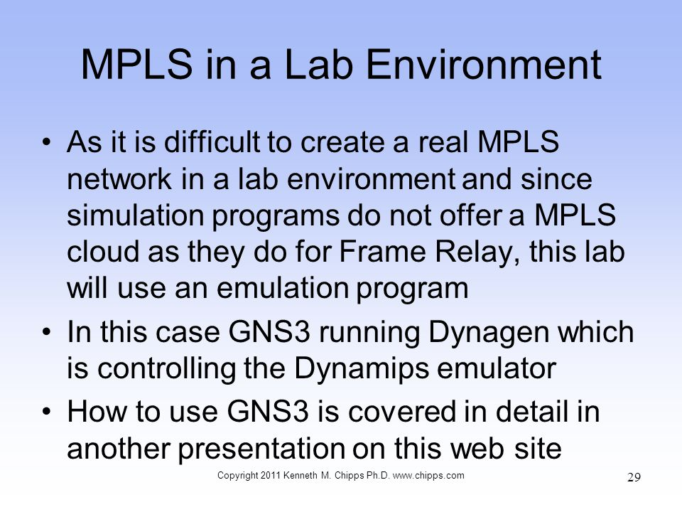 MPLS in a Lab Environment