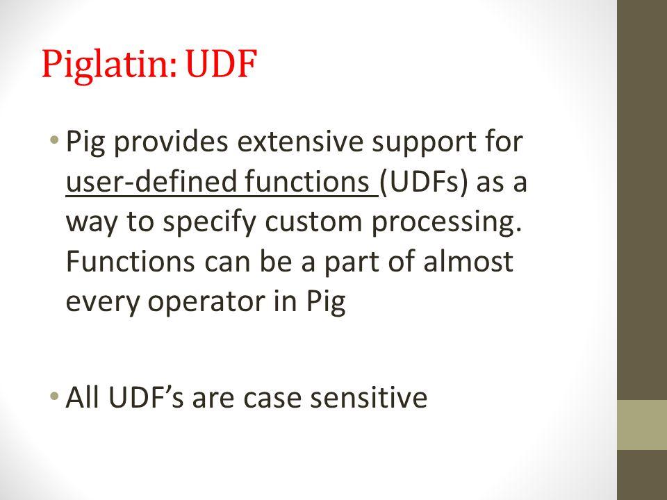Piglatin: UDF