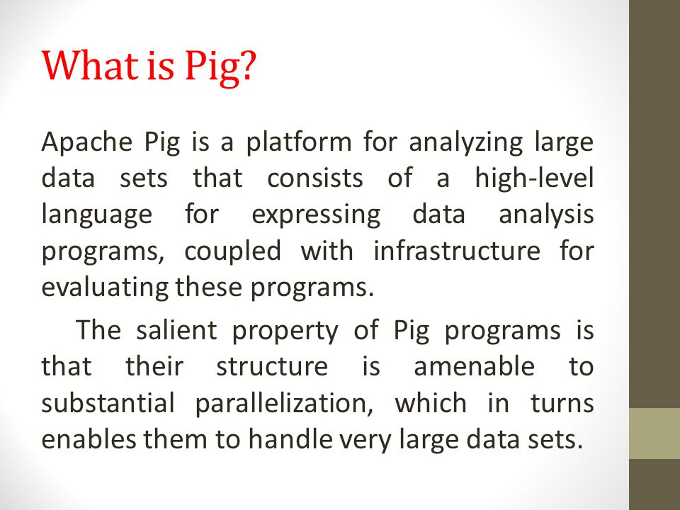 What is Pig